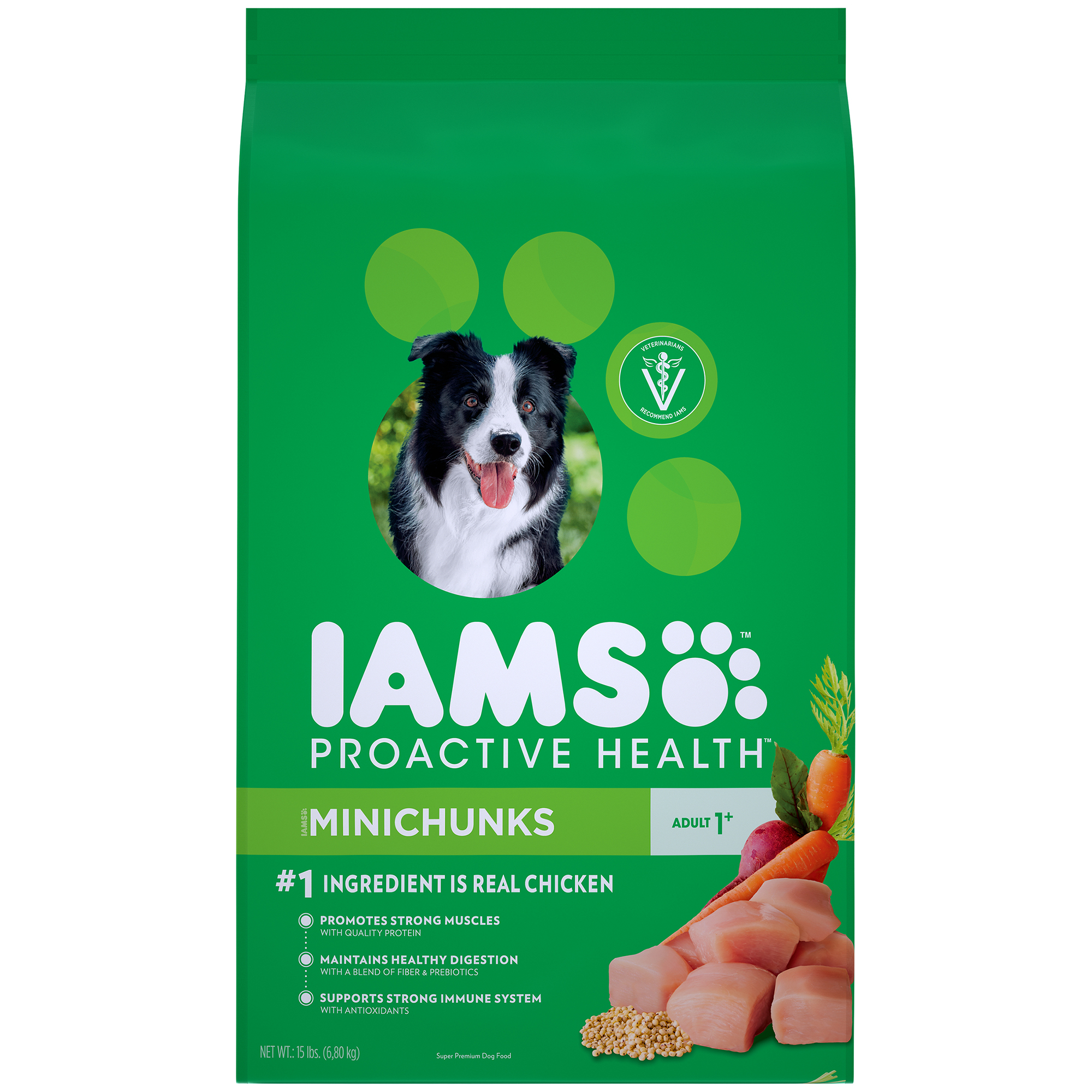 IAMS PROACTIVE HEALTH Adult Minichunks Dry Dog Food Chicken, 15 lb. Bag by Mars Petcare