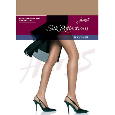 0afd55c39 Hanes 715 Womens Silk Reflections Non-Control Top Sheer Toe Pantyhose Size  - AB