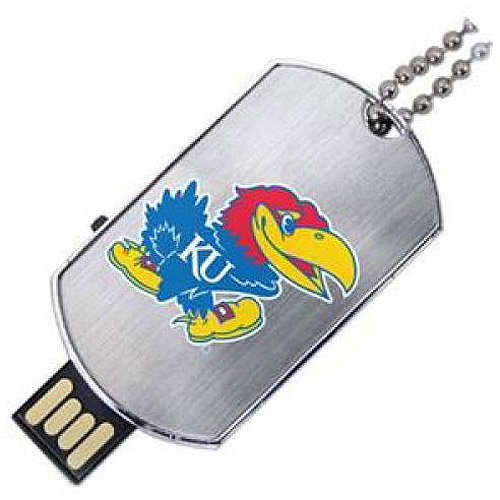 Kansas Jayhawks Flash Tag USB Drive - 8GB