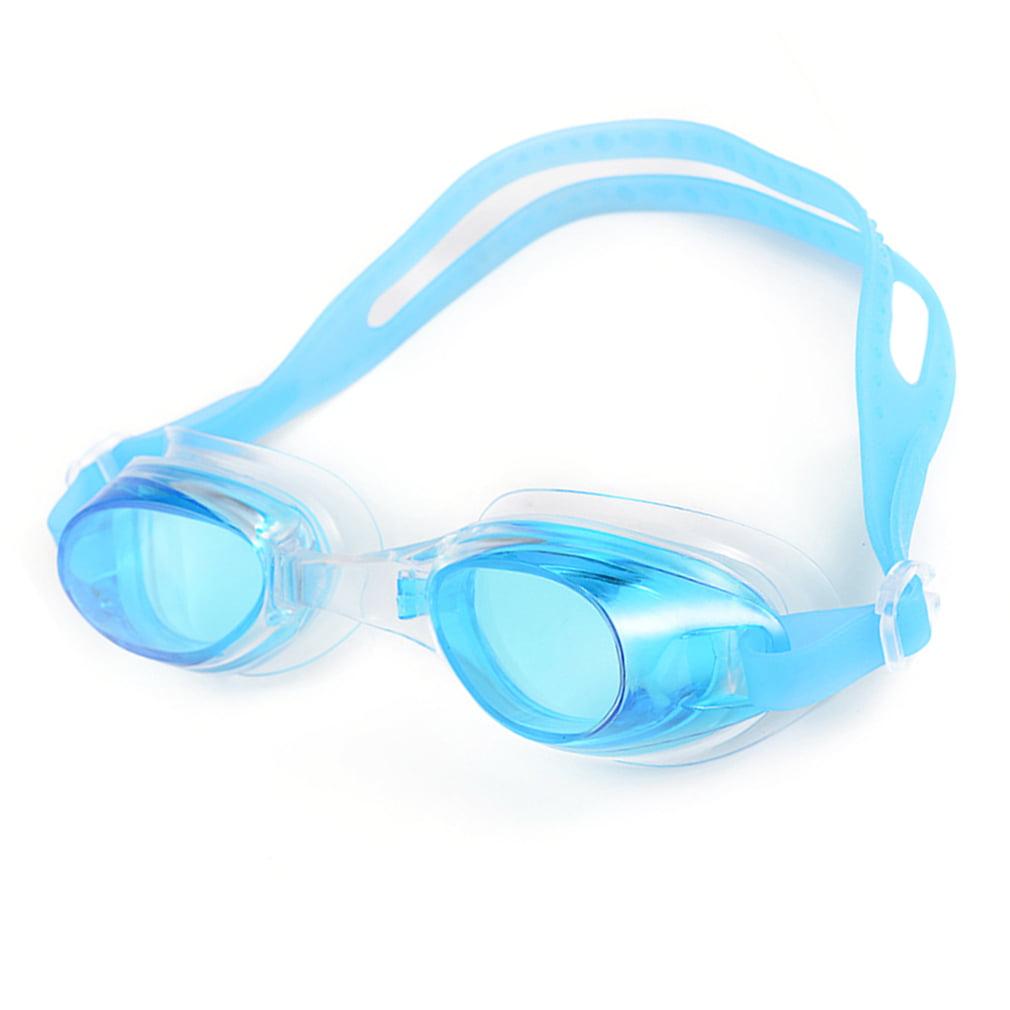 Kids Child Adjustable Non-Fogging Anti UV Swim Swimming Goggles Glasses Lake Blue by