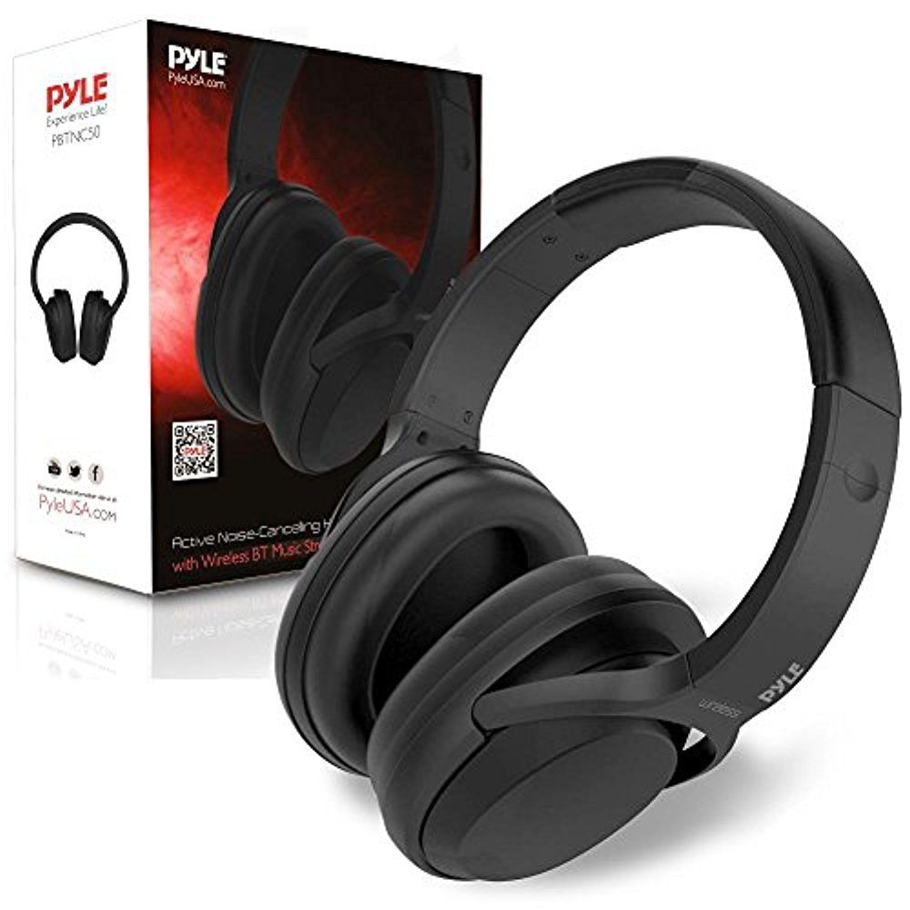 Active Noise-Cancelling Headphones with Bluetooth Wireless Music Streaming