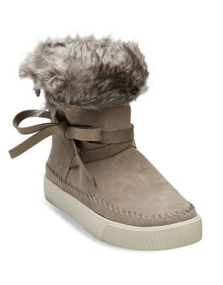 Vista Suede Faux Fur Booties