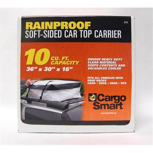 Smart Straps 318 10 CU FT Car Top Carrier 37 inch x 30 inch x 15 inch