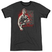 Bloodsport To The Death Mens Adult Heather Ringer Shirt