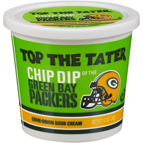 Top The Tater Chive-Onion Sour Cream Chip Dip of the Green Bay Packers, 12 oz