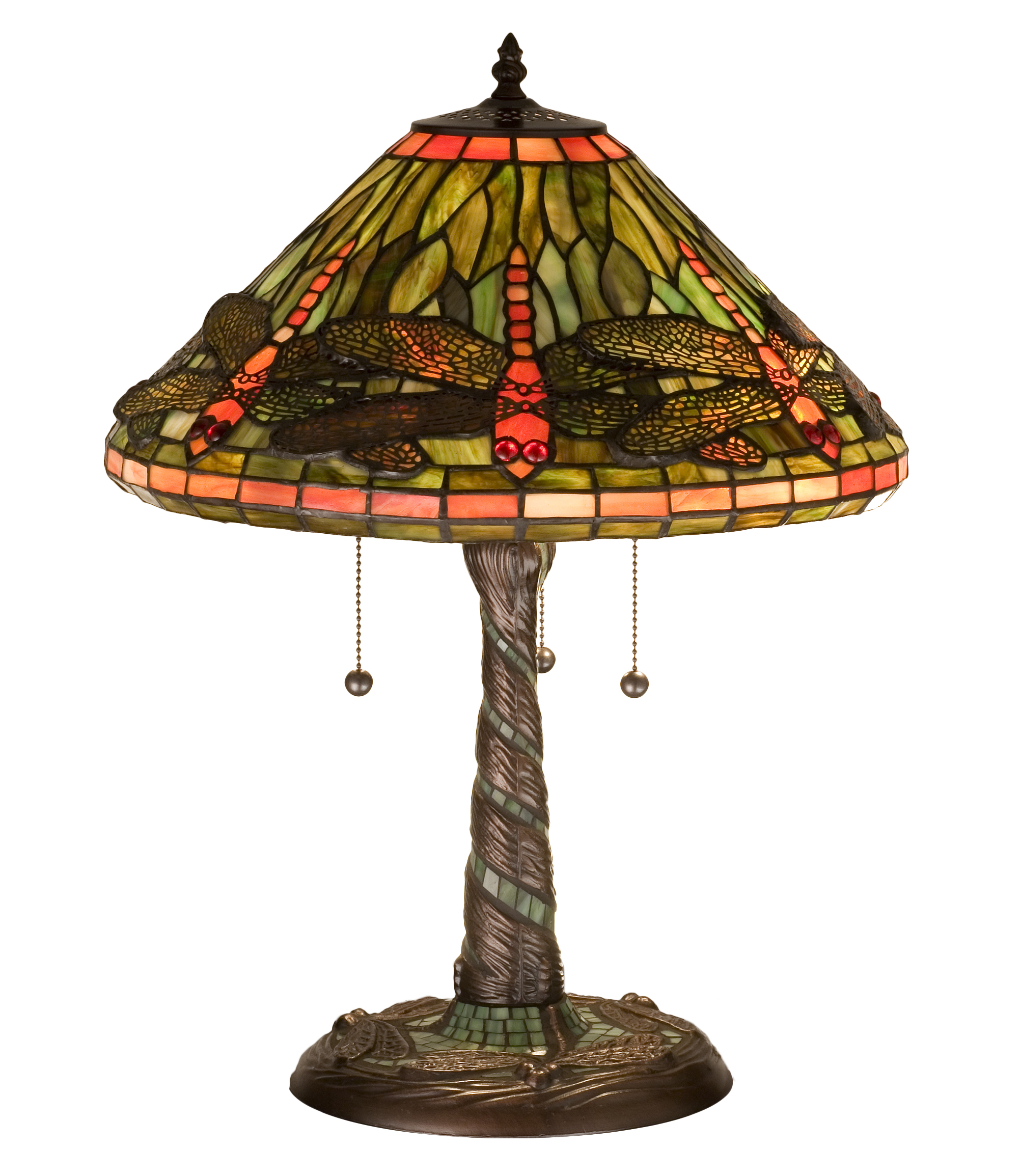 Picture of: Meyda 21 H Tiffany Dragonfly W Twisted Fly Mosaic Base Table Lamp Walmart Com Walmart Com