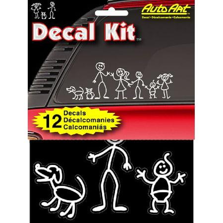 "Chroma Graphics 5309 Decal Kitz 6"" X 8"" Stick People Self-Adhesive Decal Kit"