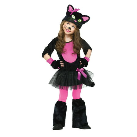 Black Cat Toddler Costume (Toddler Black Miss Kitty Cat Costume by FunWorld)