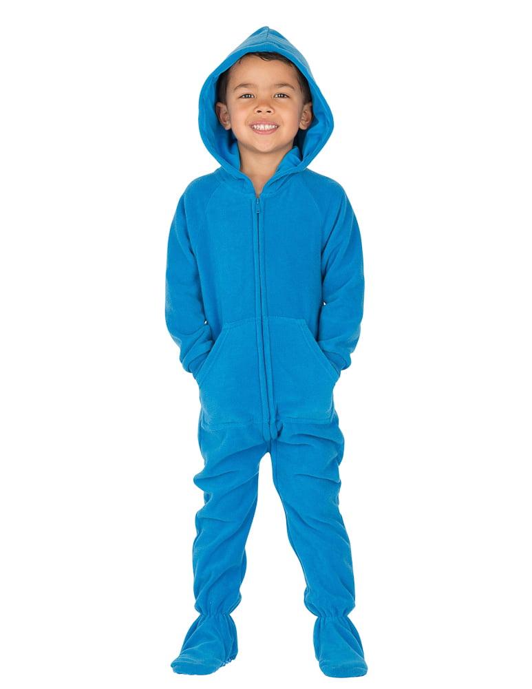 19e7adda410e Footed Pajamas - Footed Pajamas - Royal Blue Toddler Hoodie Onesie -  Walmart.com