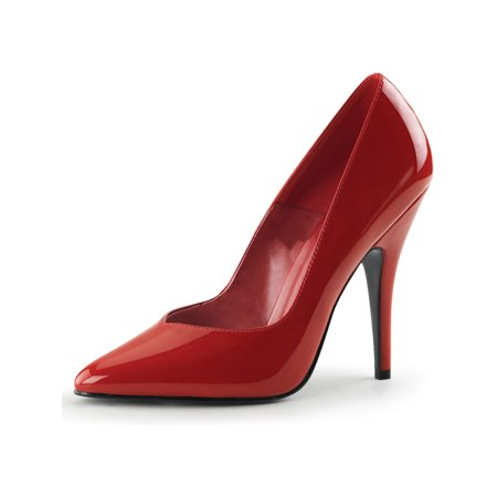 Pleaser Shoes Sale (seduce 5 inch sexy red high heel shoes plain pump)