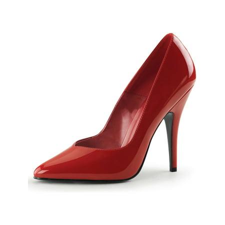 seduce 5 inch sexy red high heel shoes plain pump pleaser