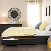 Coal Harbor Queen Mates Platform Storage Bed with 6 Drawers, Black