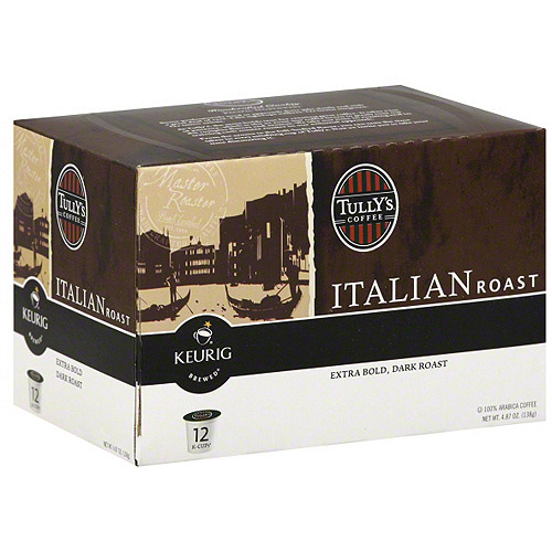 Tully's Coffee Italian Roast K-Cups Coffee, 12ct (Pack of 6)