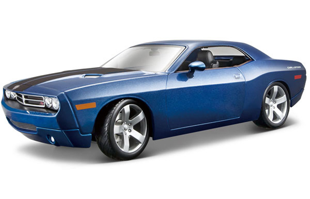 Dodge Challenger Concept, Blue Maisto Premiere 36138 1 18 Scale Diecast Model Toy Car by Maisto