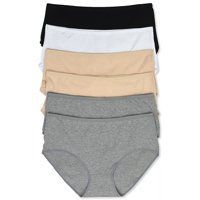 ToBeInStyle Women's Pack of 6 Extended Sideseam Plus Size Bikini Panties