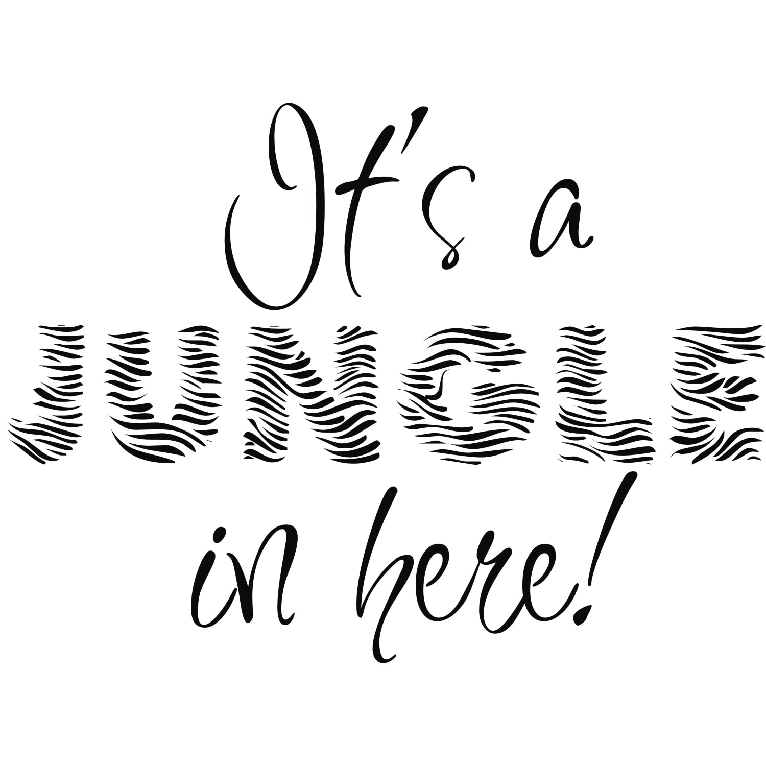 Vinyl Attraction  'It's a Jungle In Here!' Vinyl Wall Art