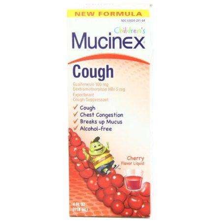 Childrens Expectorant Alcohol (2 Pack Mucinex Children's Expectorant and Cough Suppressant, Cherry, 4 Oz)