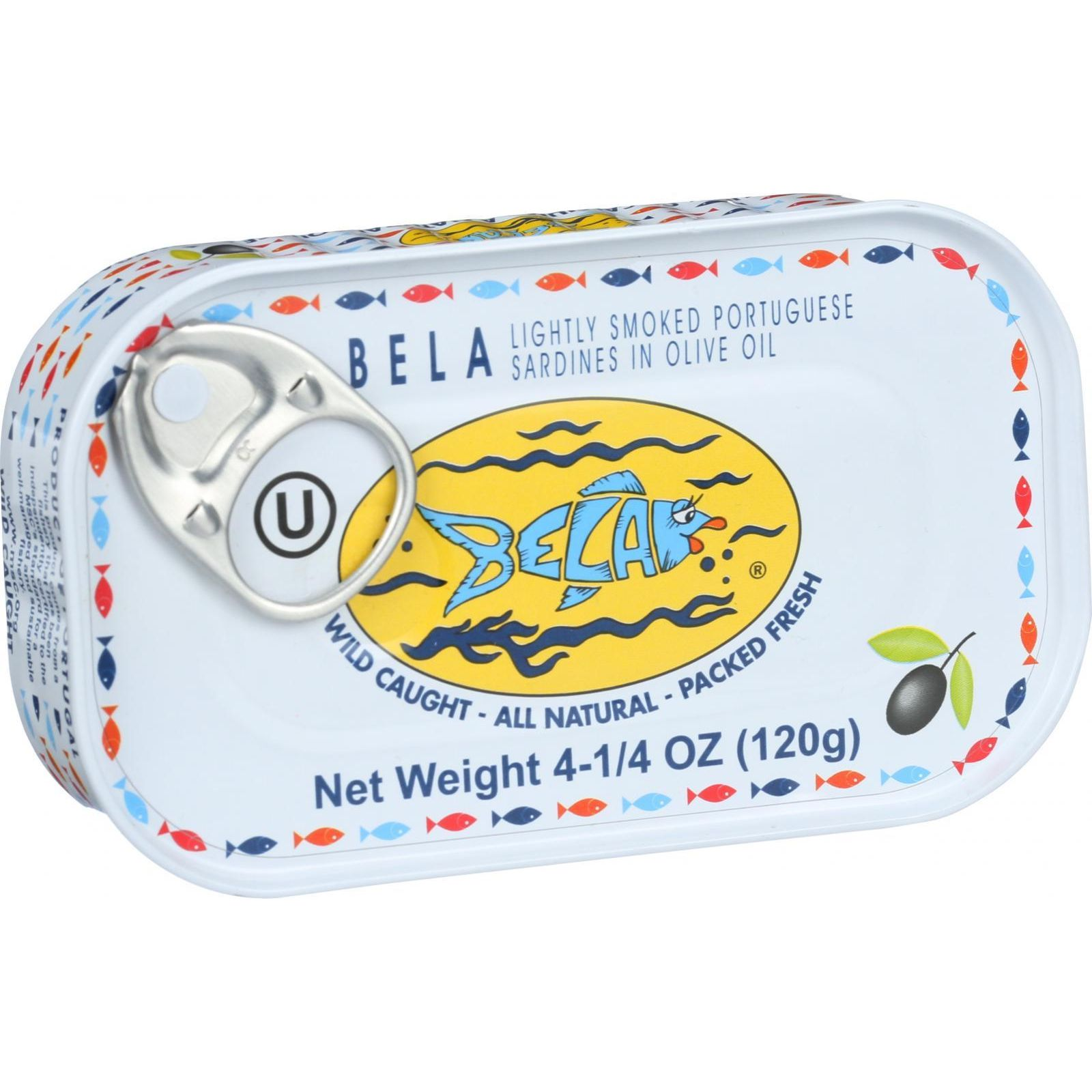 Bela Canned Lightly Smoked Sardines, in Olive Oil, 4.25 Oz by Blue Galleon