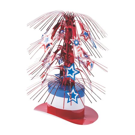 Fourth Of July Centerpieces (Fun Express - Patriotic Hat Centerpiece for Fourth of July - Party Decor - General Decor - Centerpieces - Fourth of July - 1)