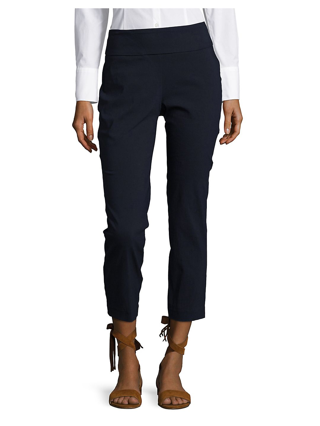 Petite Solid Power Stretch Ankle Pants