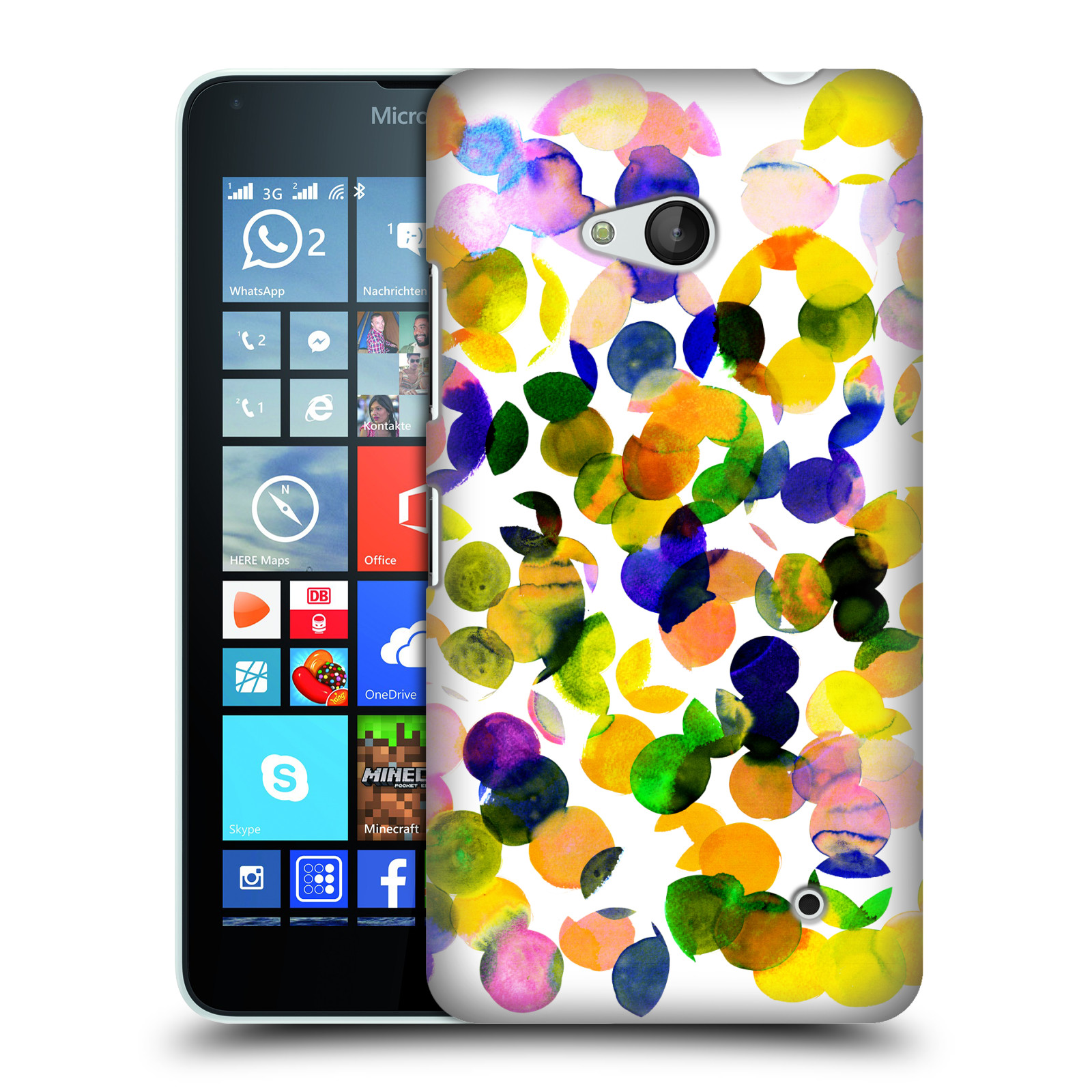 OFFICIAL AMY SIA WATERCOLOUR SPOTS HARD BACK CASE FOR MICROSOFT PHONES