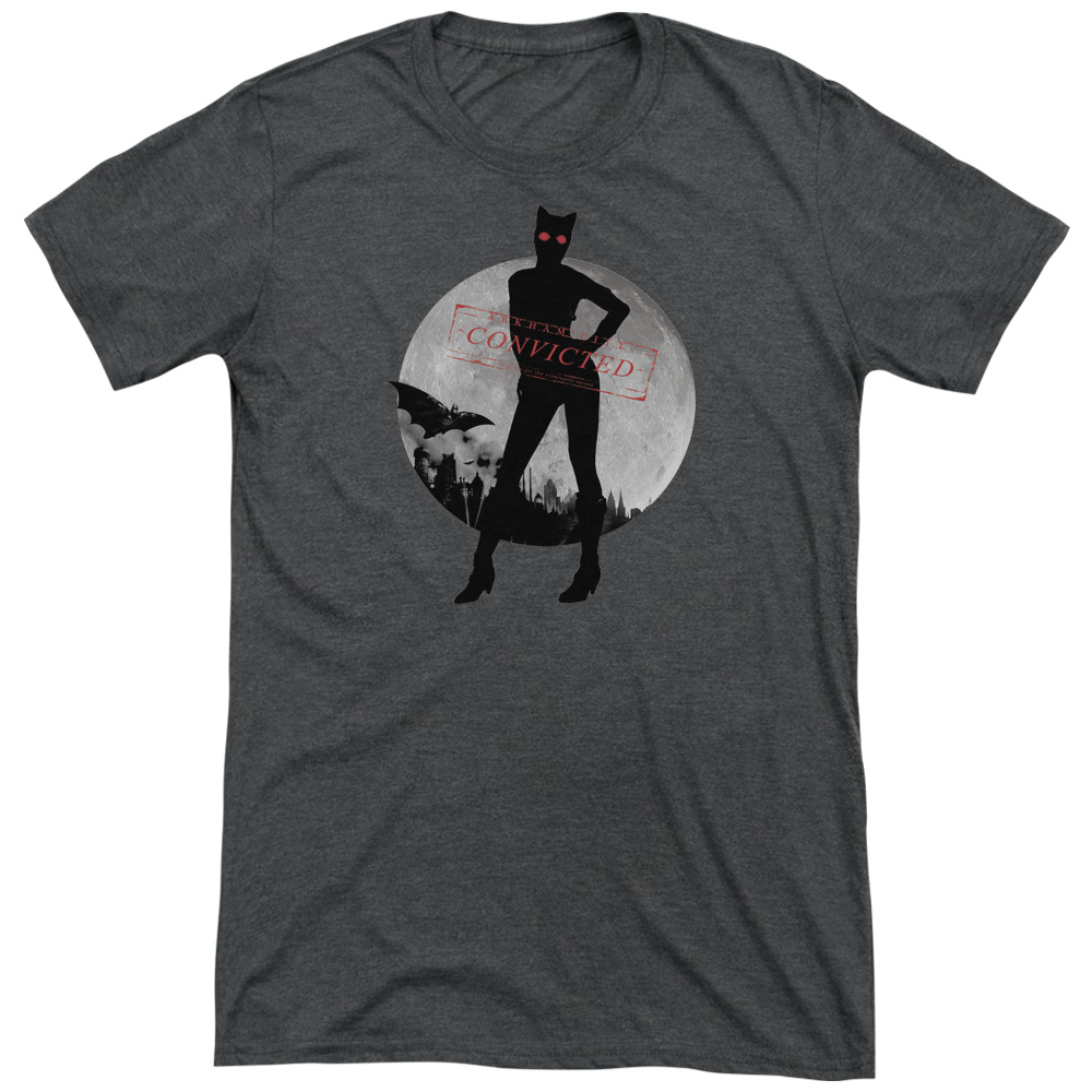 Arkham City Catwoman Convicted Mens Tri-Blend Short Sleeve Shirt