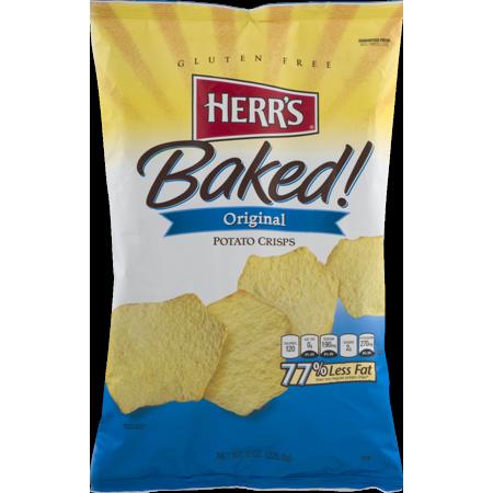 Herr's Original Baked Potato Crisps 8 oz. Bag- (4 Bags)