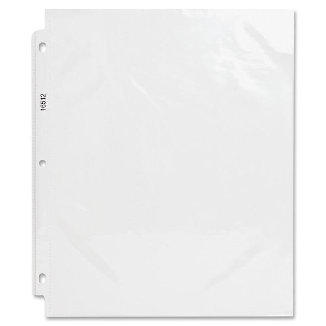 Business Source Sheet Protectors,Top Load,3.2 mil, 50 per Box,Clear (Set of 2)