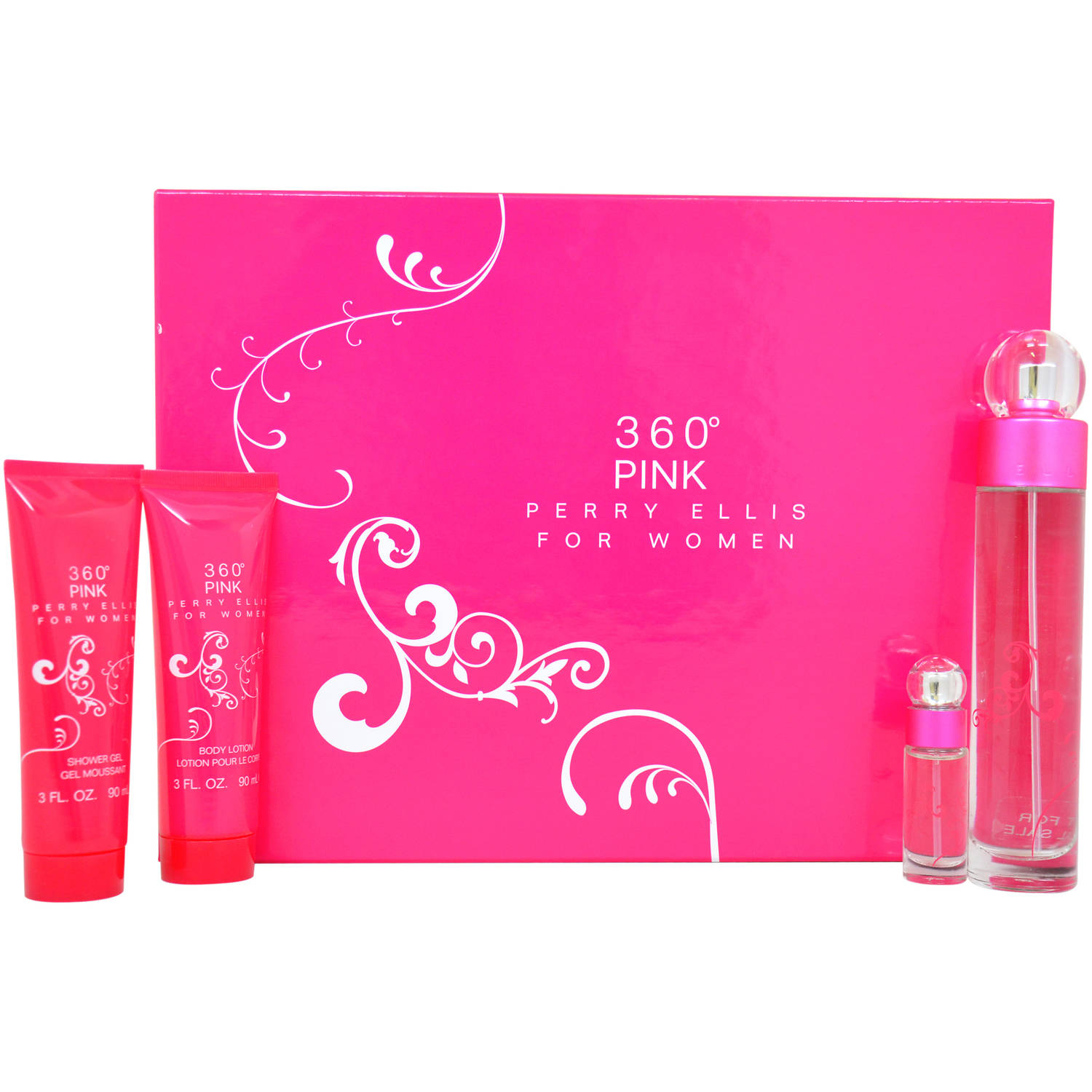 Perry Ellis 360 Pink for Women Gift Set, 4 pc