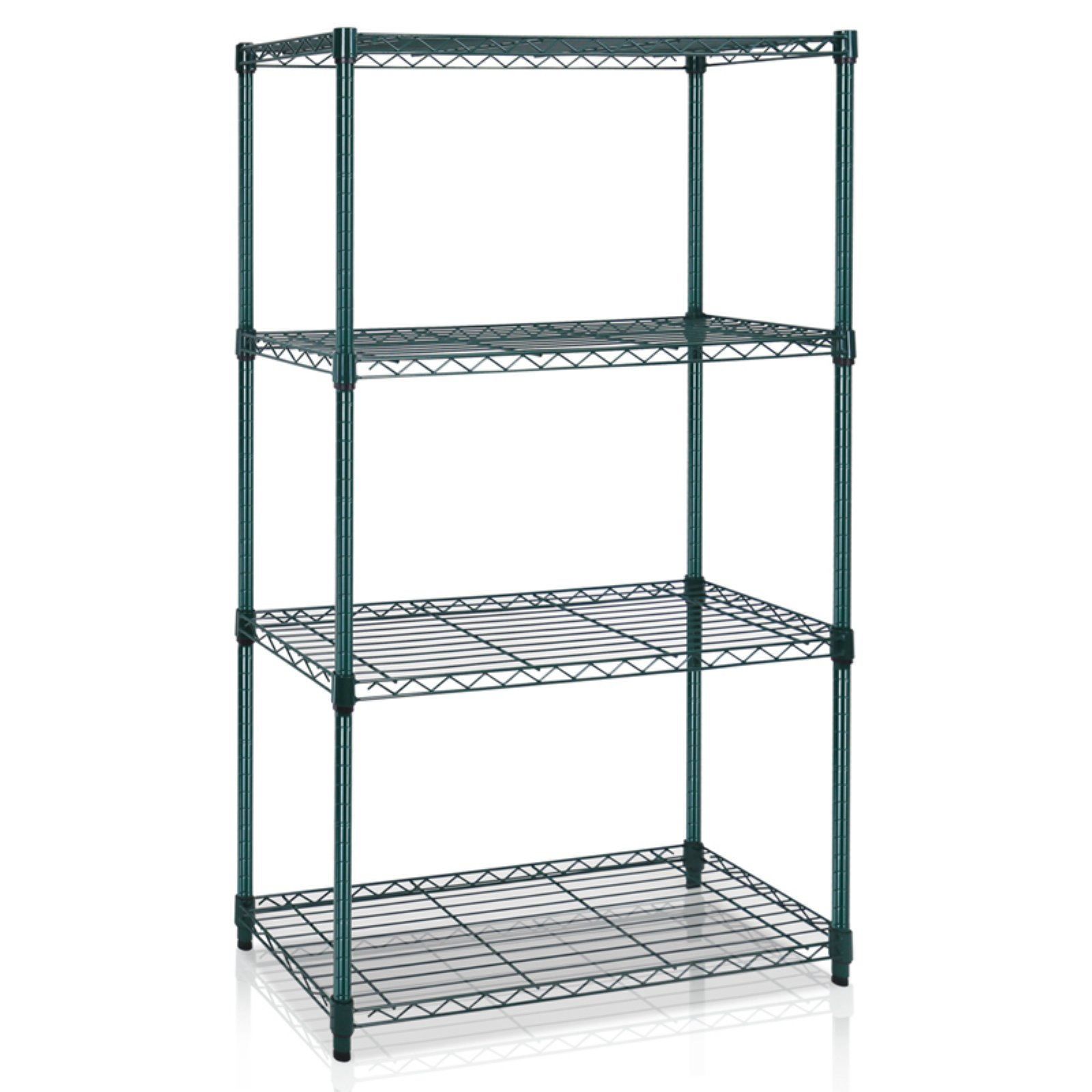 Furinno Wayar 4-Tier Heavy-Duty Wire Shelving Chrome, Multiple Colors