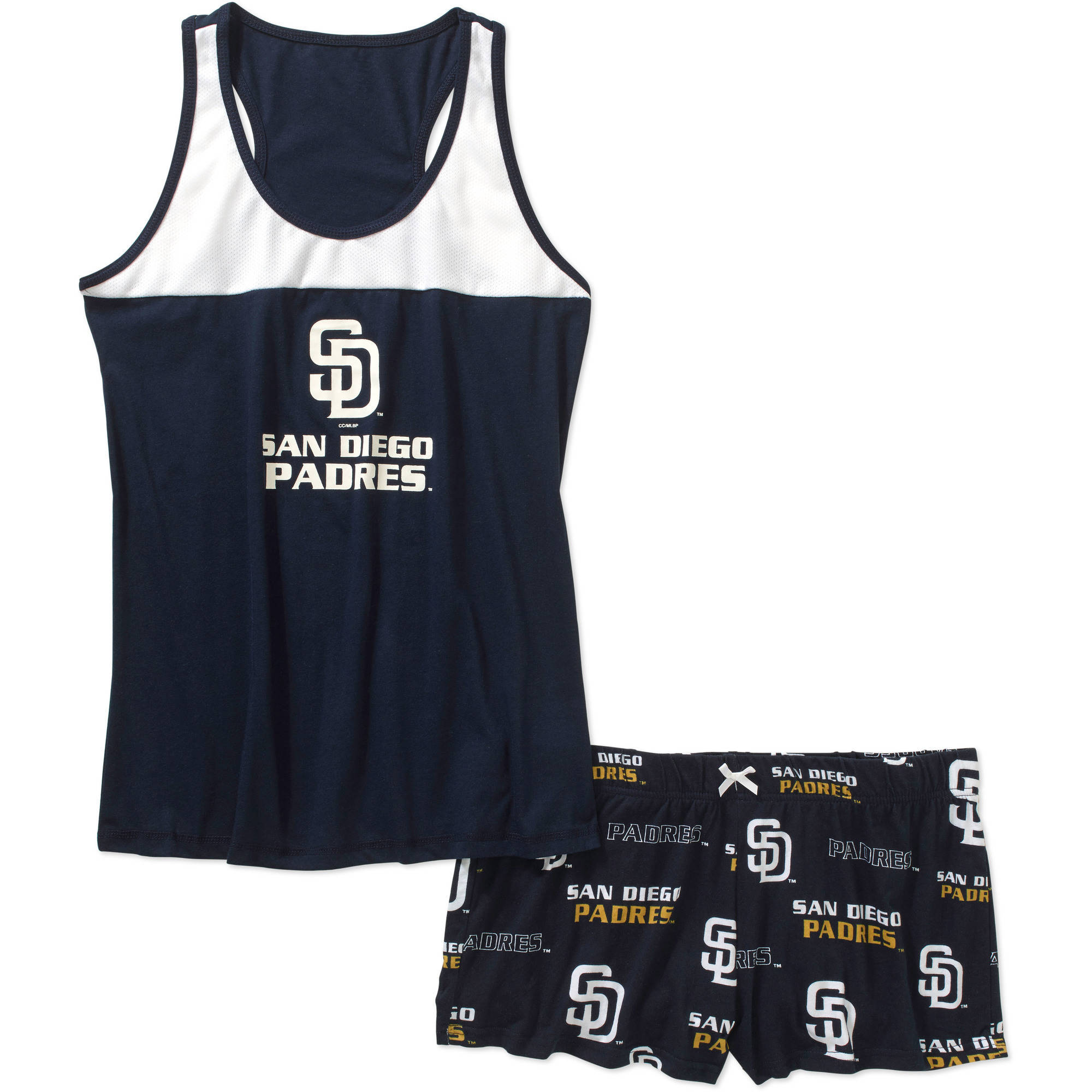 MLB Womens San Diego Padres Tank and Short Set