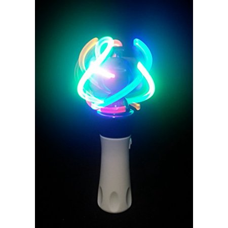 Light Up LED Orbiter Spinning Wand Hand Held Multi-Colored Wand