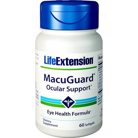 MacuGuard Ocular Support with Saffron 60 softgels,Walmartprehensive ocular nutrition in a single soft gel By Life - Life Extension Nutrition