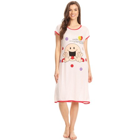 5020 Womens Nightgown Sleepwear Cotton Pajamas - Woman Sleeveless Sleep Dress Nightshirt Red # 75 M](Wizard Gown)