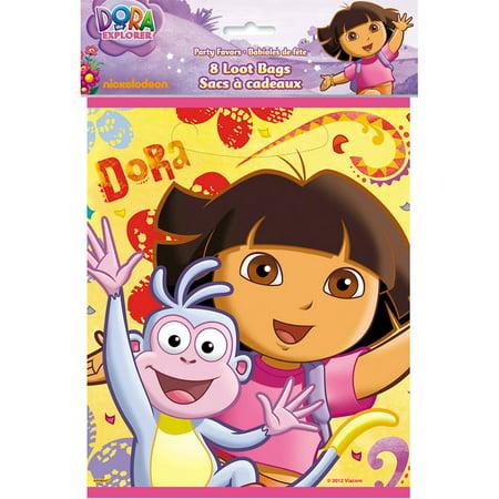 Dora the Explorer Favor Bags, 8-Count - Dora Party Theme