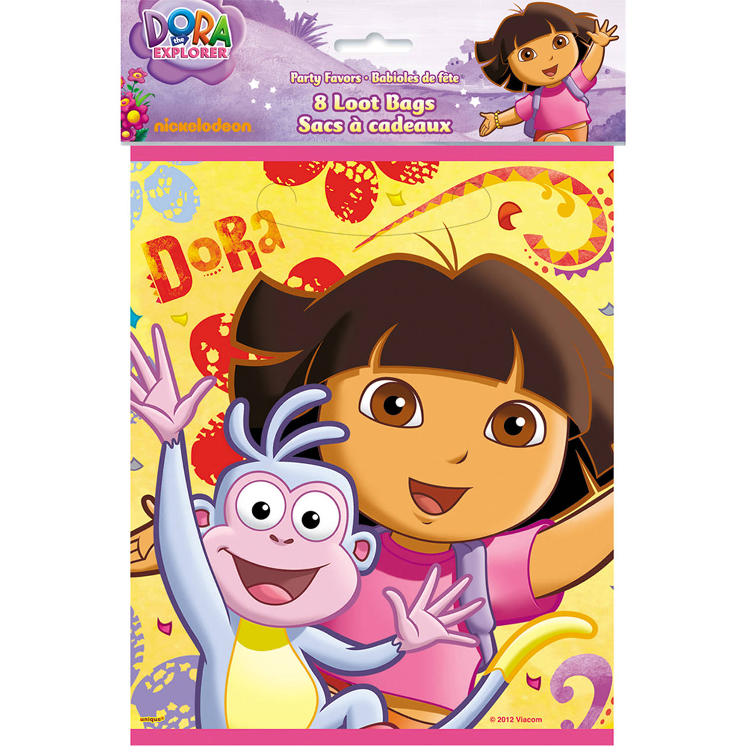 Dora the Explorer Favor Bags, 8-Count