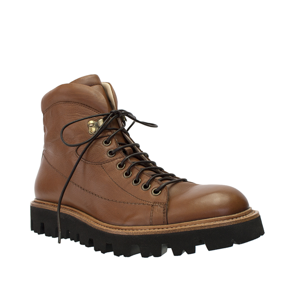 Click here to buy Angelo Burlinetto Mens Brown Leather Hiking Boot.