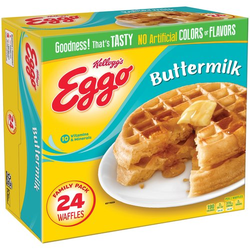 Kellogg's Eggo Buttermilk Waffles, 24 count, 29.6 oz