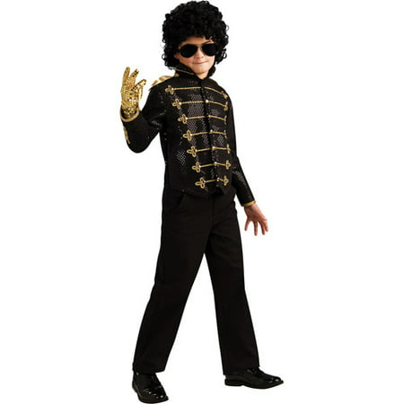 MJ Black Military Jacket Deluxe Child Costume