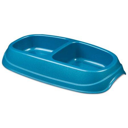 Double Pet Dish - Sterilite Small Double Pet Plastic Food Dish Tray