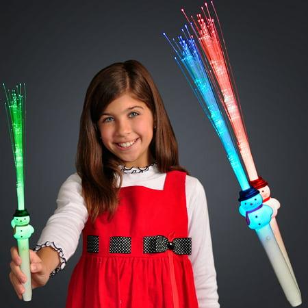 FlashingBlinkyLights Fiber Optic Snowman Light Up Wand](Fibre Optic Wands)