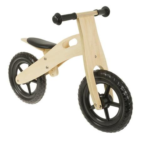 Wooden Bike (Ultra-light 12 Black Wooden Running/Balance Bike )