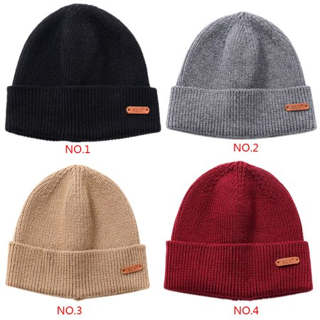 Ustyle Outdoor Autumn Winter Casual Knit Hats Women Men Beanie Hat Warm Knitted Caps Solid Color - image 7 of 9