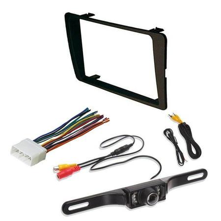 Non Si Model - HONDA 2001 - 2005 Civic Non SI Models Car Radio Stereo CD Player Dash Install Mounting Trim Bezel Panel Kit + Harness + Rear View Camera