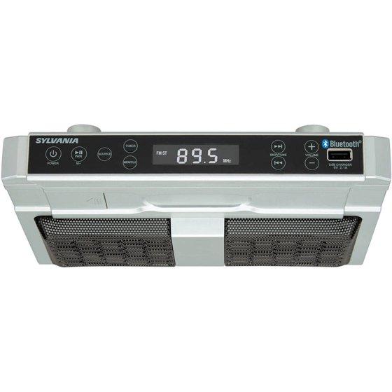 Sylvania R Skcr2810bt Bluetooth Under Cabinet Kitchen Radio