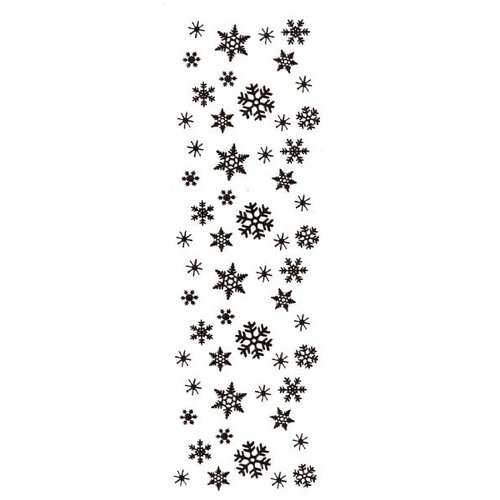 Sarasota Stamps Mounted Rubber Snowflake Border Stamp