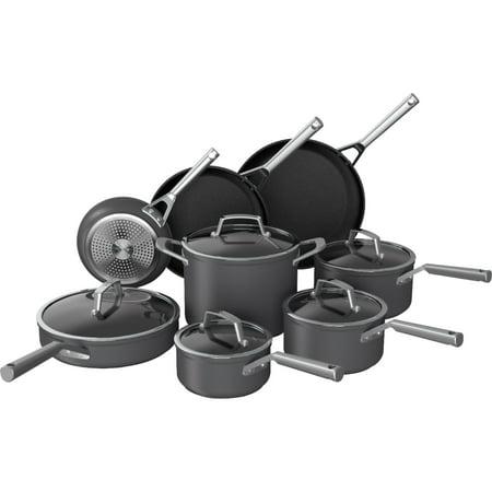 Ninja C39600 Foodi NeverStick Premium Hard-Anodized 13-Piece Cookware Set, Slate Grey