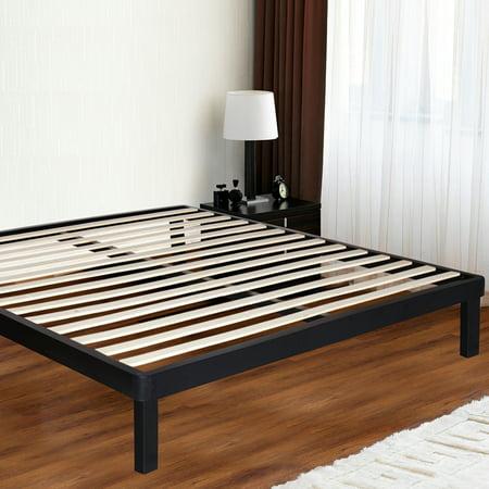 Bed Frame With Wood Slat Platform