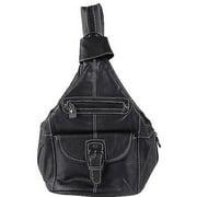 Brinley Co Women's Leather Convertible Backpack Shoulder Bag