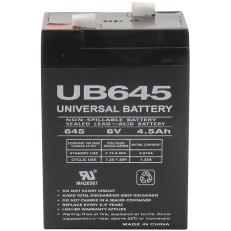 UPG 85998/D5733 Sealed Lead Acid Batteries (6V; 4.5 AH;